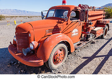 Red Firetruck - Red Stovepipe Wells Fire Dept truck