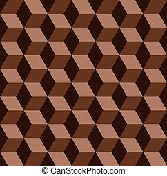 vector abstract chocolate mosaic seamless pattern
