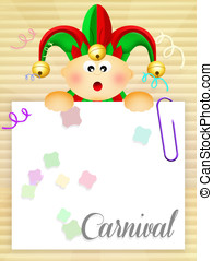 Carnival - illustration of carnival postcard