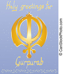 gurpurab greeting card - an illustration of a punjabi...