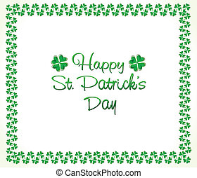 abstract st patrick clover border