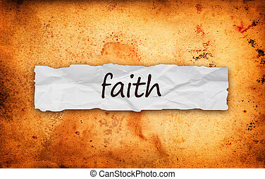 Faith title on piece of paper - Faith title on piece of...