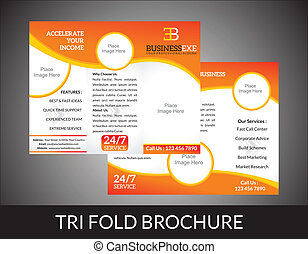 abstract tri fold brochure concept vector illustration