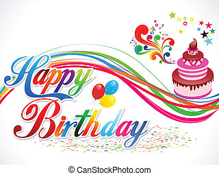 abstract happy birthday background vector illustration