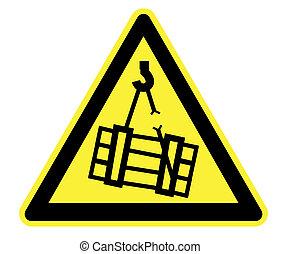 Danger Overhead Crane Yellow - High Resolution Danger...