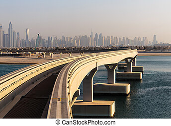 Monorail at the Palm Jumeirah in Dubai