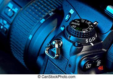 digital camera - Closeup view of digital camera