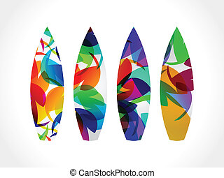abstract colorful surf board vector illustration