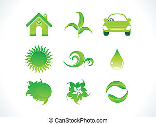 abstract eco icon vector illustrati