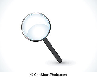 abstract magnifier icon