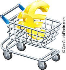 Euro money trolley concept - Euro currency trolley concept...