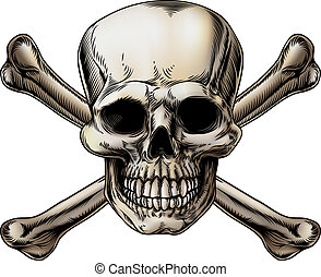Skull and Crossbones Icon - A skull and crossbones icon...