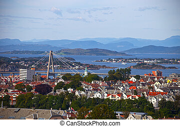 Stavanger, Norway - View of the city from above.