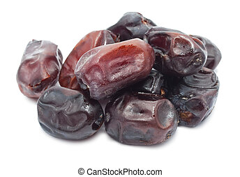 Dates - Tasty dried dates isolated on white background
