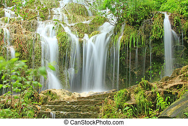Waterfall of Bad Urach, Germany - The waterfall of Bad...