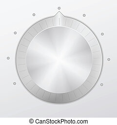 knob  - Control volume knob. Vector illustration.