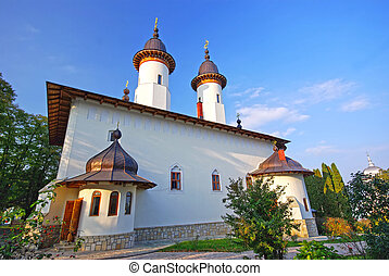 Varatec monastery - Church of Varatec monastery in Moldavia,...