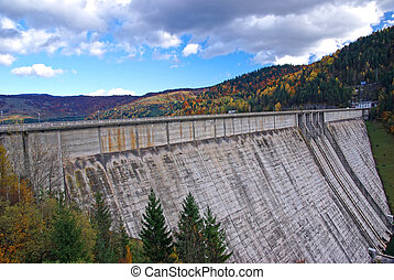 Hydroelectric dam Bicaz in Romania