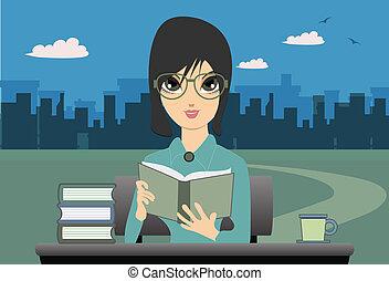 Woman Reading.