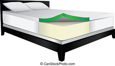 Bed therapeutic mattress - Bed with therapeutic mattress,...