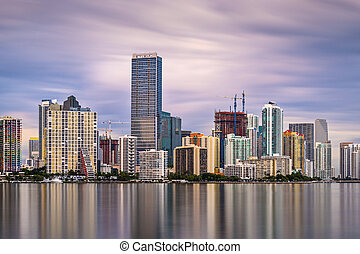 Miami Skyline - Skyline of Miami, Florida, USA
