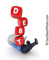 financiero, crisis, concepto