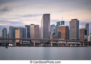 Miami Skyline - Skyline of Miami, Florida, USA.