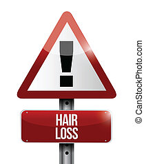 hair loss road sign illustration design over a white...