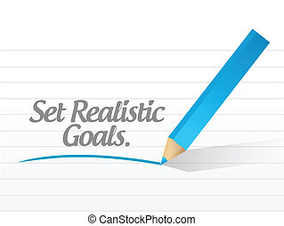 set realistic goals message