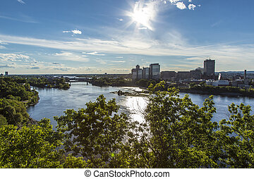 Ottawa River and City of Gatineau - The Ottawa River and...