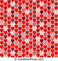 Design seamless colorful heart pattern. Valentine's Day background. Vector art