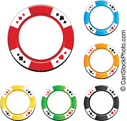 set of poker chip - suitable for casino chip