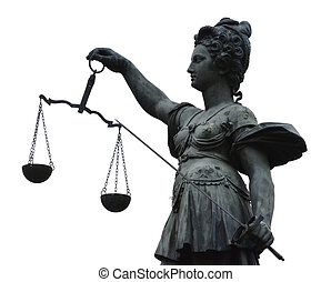 Lady Justice - Justitia Lady Justice sculpture on the...
