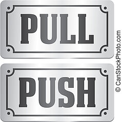 pull and push - door signs - suitable for door signs
