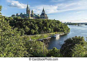 Parliament Hill in Ottawa - Parliament Hill is an area of...