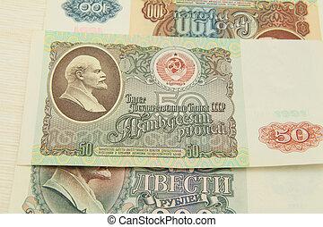 dinero, de, Rusia