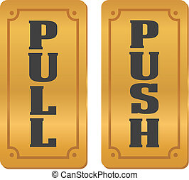 pull and push door signs - suitable for door signs
