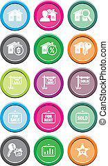 real estate round icon sets - suitable for user interface