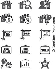 real estate silhouette icon - suitable for user interface