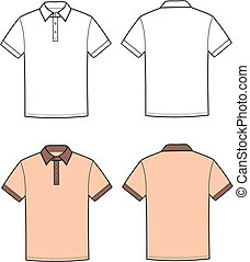 Polo t-shirt - Vector illustration of men's polo t-shirt....
