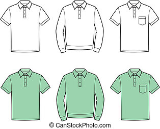 Polo t-shirt - Vector illustration of mens polo t-shirts