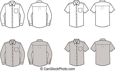 Shirt - Vector illustration of men's business shirts. Front...