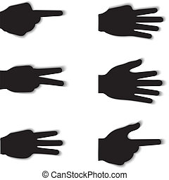 Hand gesture silhouettes
