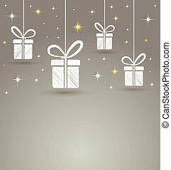 paper gift box with star  lights