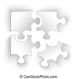 paper puzzle pieces isolated