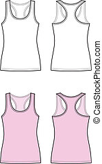Singlet - Vector illustration of women's singlet. Front and...