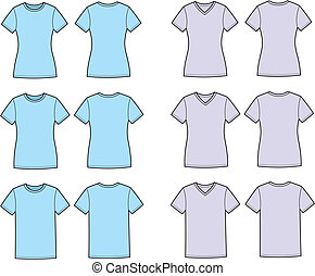 T-shirt - Vector illustration of t-shirts. Front and back...