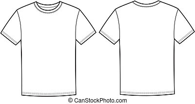 T-shirt - Vector illustration of men's t-shirt. Front and...