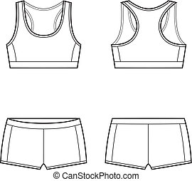 Sport underwear - Vector illustration of womens sport...