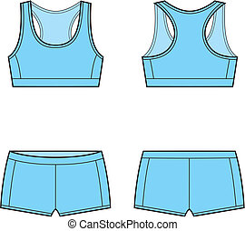 Sport underwear - Vector illustration of women's sport...